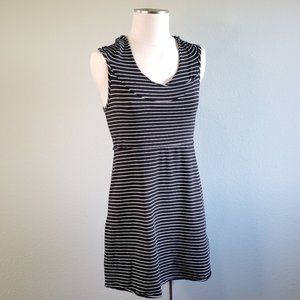 Andrew Marc Performance Striped Hoodie Dress